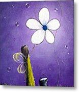 Daisy Fairy By Shawna Erback Metal Print by Shawna Erback