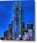 Dallas Skyline Hd Metal Print by Jonathan Davison