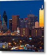 Dallas Skyline Panorama Metal Print by Inge Johnsson