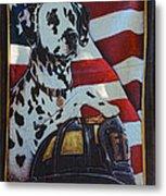 Dalmatian The Firefighters Mascot Metal Print by Paul Ward
