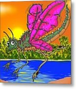 Dameon The Dragonfly  Metal Print by Paul Calabrese