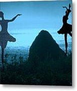 Dance Of The Sea Metal Print by Joyce Dickens