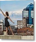 Dance The Durham Skyline Metal Print by Jh Photos