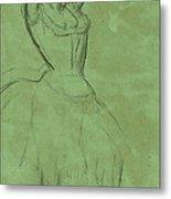 Dancer With Raised Arms Metal Print by Edgar Degas