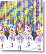 Dancers In The Forest Metal Print by Kip DeVore
