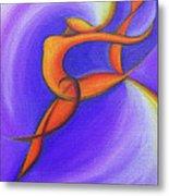 Dancing Sprite In Purple And Orange Metal Print by Tiffany Davis-Rustam