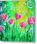 Dancing Tulips Metal Print by Jan Marvin