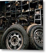 Dark Old Garage Metal Print by Amy Cicconi