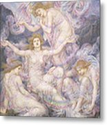 Daughters Of The Mist Metal Print by Evelyn De Morgan