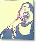 Dave Grohl Metal Print by Giuseppe Cristiano