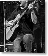 Dave Matthews On Guitar 9  Metal Print by The  Vault - Jennifer Rondinelli Reilly