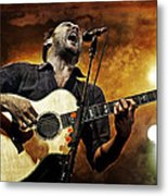 Dave Matthews Scream Metal Print by The  Vault - Jennifer Rondinelli Reilly