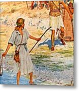 David And Goliath Metal Print by William Henry Margetson