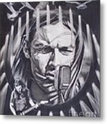 David Gilmour Of Pink Floyd - Echoes Metal Print by Sean Connolly