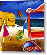Day At The Beach Metal Print by William Cain