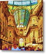 Day At The Galleria Metal Print by Jeff Kolker