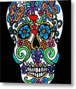 Day Of The Dead Skull Metal Print by Genevieve Esson