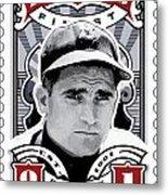 Dcla Bobby Doerr Fenway's Finest Stamp Art Metal Print by David Cook Los Angeles