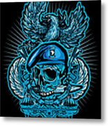 Dcla Skull Airborne All The Way Metal Print by David Cook Los Angeles