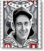 Dcla Ted Williams Fenway's Finest Stamp Art Metal Print by David Cook Los Angeles