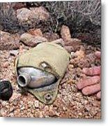 Dead Hiker And Empty Canteen Metal Print by Joe Belanger