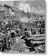 Deadwood South Dakota C. 1876 Metal Print by Daniel Hagerman