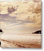 Deception Bay Washington Metal Print by Artist and Photographer Laura Wrede