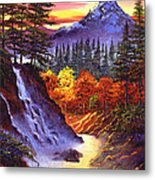Deep Canyon Falls Metal Print by David Lloyd Glover