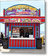 Deep Fried Hostess Twinkies At The Santa Cruz Beach Boardwalk California 5d23689 Metal Print by Wingsdomain Art and Photography