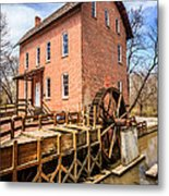 Deep River Grist Mill In Northwest Indiana Metal Print by Paul Velgos