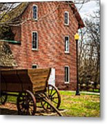 Deep River Wood's Grist Mill And Wagon Metal Print by Paul Velgos