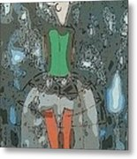 Deer Girl Metal Print by Amy Sorrell