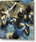 Degas, Edgar 1834-1917. Blue Dancers Metal Print by Everett