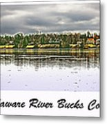 Delaware River Bucks County Metal Print by Tom Gari Gallery-Three-Photography