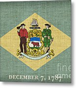Delaware State Flag Metal Print by Pixel Chimp