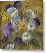 Delicate Aroma II -unfarmed-with Gold Leaf By Vic Mastis Metal Print by Vic  Mastis