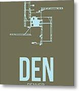 Den Denver Airport Poster 3 Metal Print by Naxart Studio
