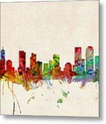 Denver Colorado Skyline Metal Print by Michael Tompsett