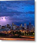 Denver Skyline Metal Print by John K Sampson