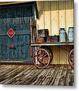 Depot Wagon Metal Print by Kenny Francis