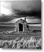 Derelict Stone Shed In  Auvergne. France Metal Print by Bernard Jaubert