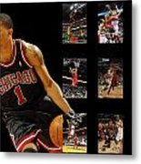 Derrick Rose Metal Print by Joe Hamilton