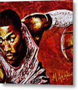 Derrick Rose Metal Print by Maria Arango