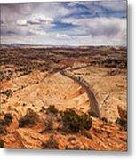 Desert Road Metal Print by Andrew Soundarajan