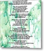 Desiderata - Words Of Wisdom Metal Print by Sharon Cummings
