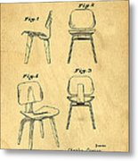Designs For A Eames Chair Metal Print by Edward Fielding