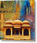 Detail Of Mohatta Palace Metal Print by Catf