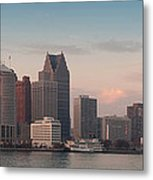 Detroit At Dusk Metal Print by Andreas Freund