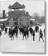 Detroit Michigan Skating At Belle Isle Metal Print by Anonymous