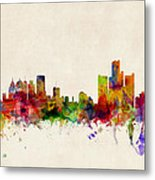 Detroit Michigan Skyline Metal Print by Michael Tompsett